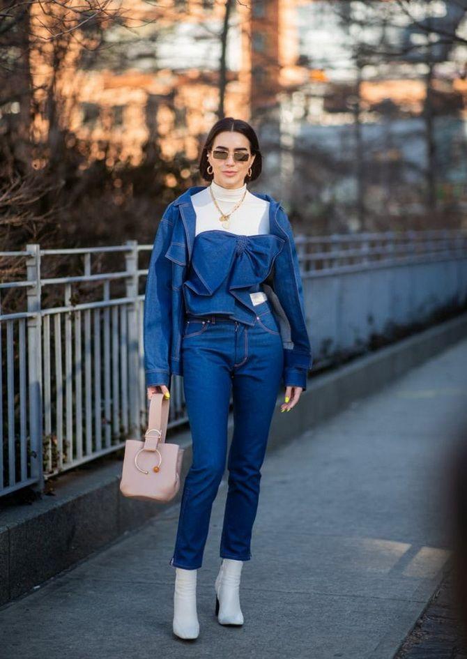 модная джинсовая куртка 2020