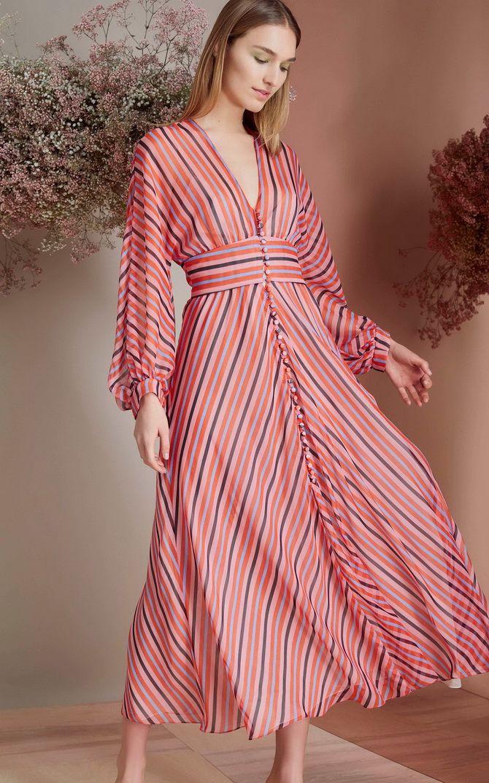 платье полоска лето