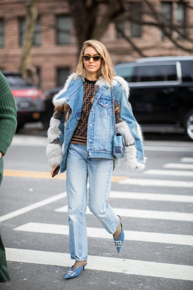 Как носить утепленную джинсовую куртку