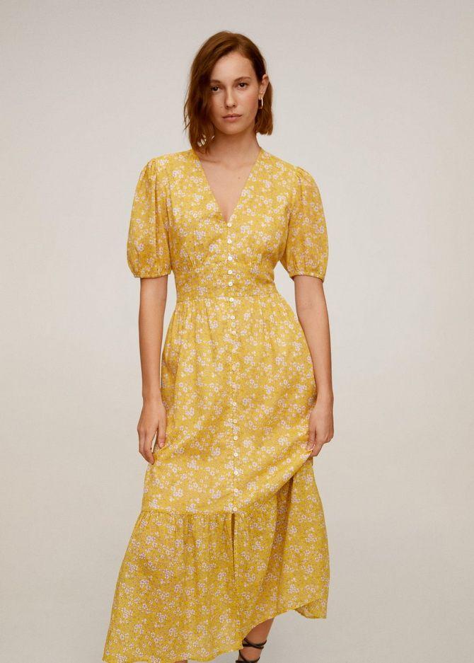 платья с небольшим вырезом
