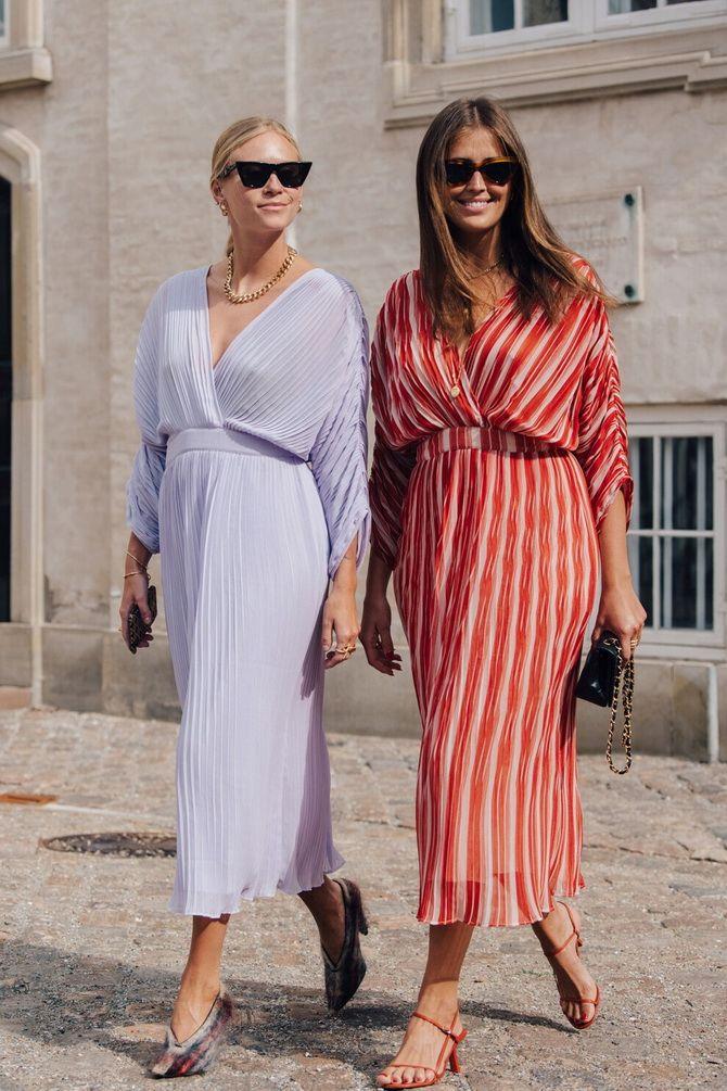 летние платья в полоску 2020-2021