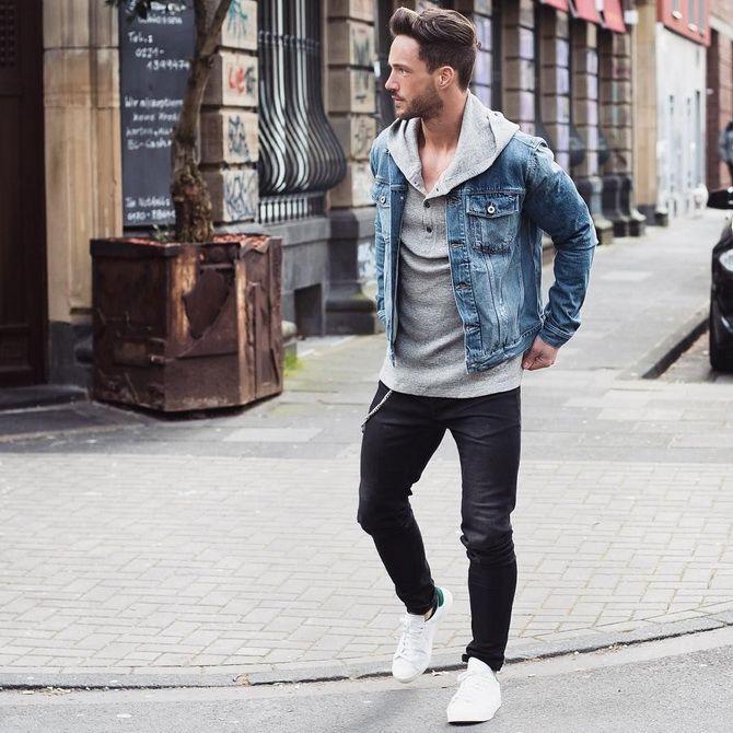 черная джинсовая куртка мужская
