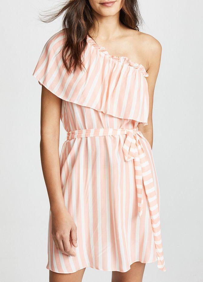 летние платья c открытыми плечами
