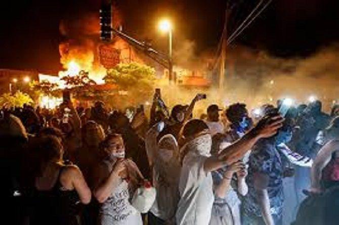 ночные протесты сша