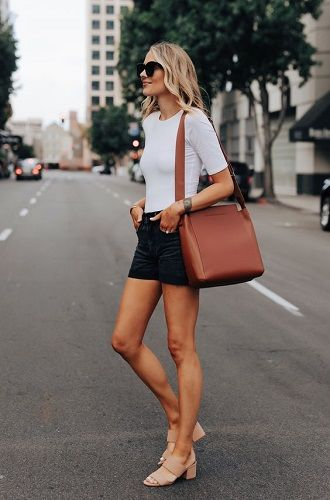 Denim shorts in 2020-2021: look stylish and trendy 25