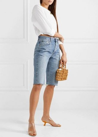Denim shorts in 2020-2021: look stylish and trendy 36