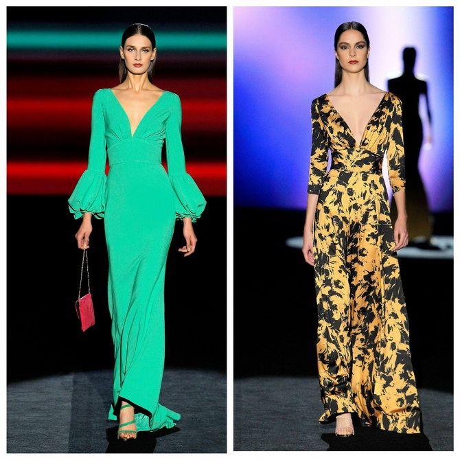 Модные длинные платья с поясом