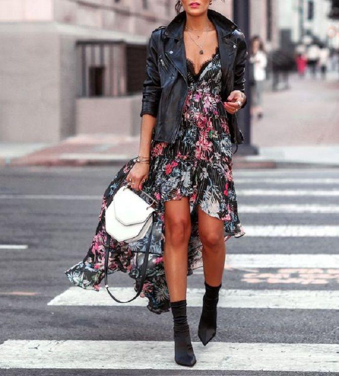 dress in flower