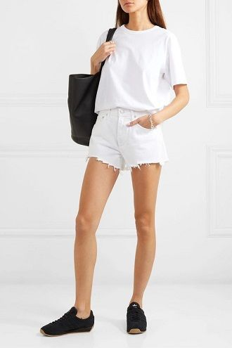 Denim shorts in 2020-2021: look stylish and trendy 59