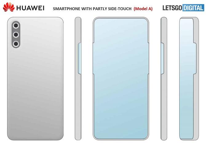 Huawei разрабатывает смартфон с виртуальными кнопками и подэкранной камерой 2