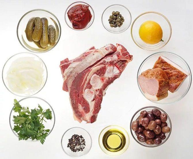 рецепт мясної солянки