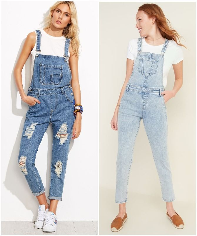 женский джинсовый комбинезон 2020-2021 года