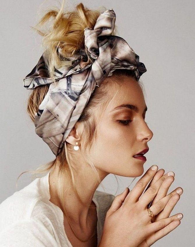 Модный тренд лета 2021: завязываем платок на голове 12