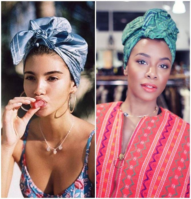 Модный тренд лета 2021: завязываем платок на голове 20