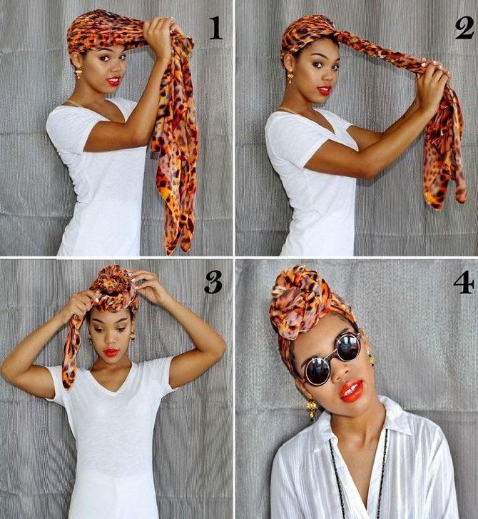 Модный тренд лета 2021: завязываем платок на голове 23