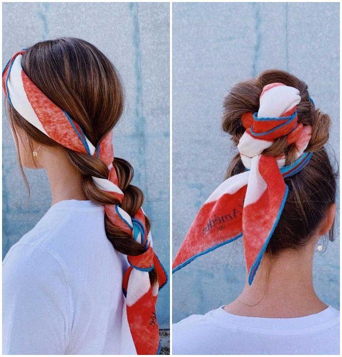 Модный тренд лета 2021: завязываем платок на голове 32