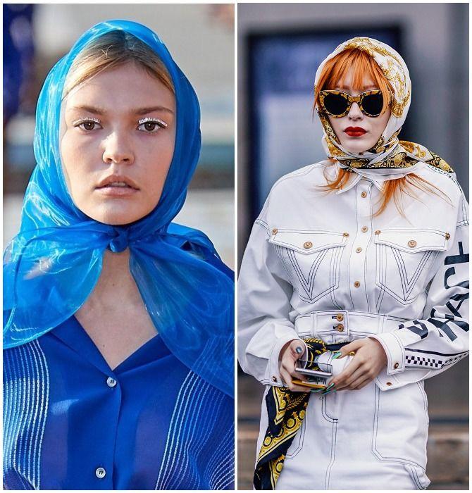 Модный тренд лета 2021: завязываем платок на голове 5