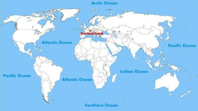 карта мира Швейцария
