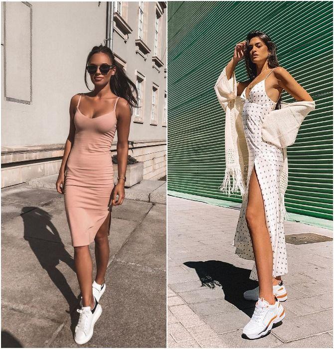 Бельевое платье-слип