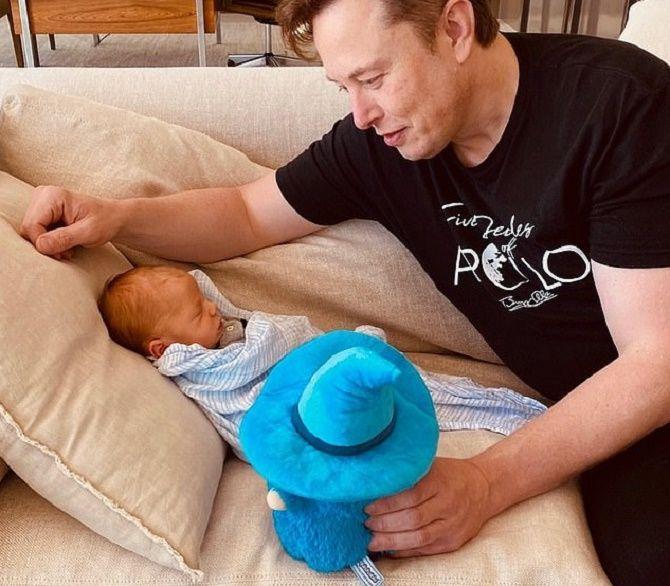 Илон Маск с сыном