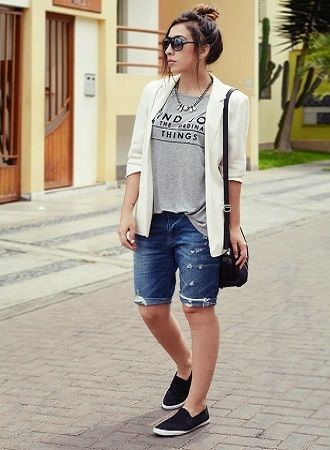 Denim shorts in 2020-2021: look stylish and trendy 73
