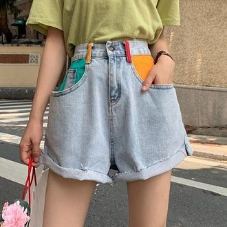 Denim shorts in 2020-2021: look stylish and trendy 82
