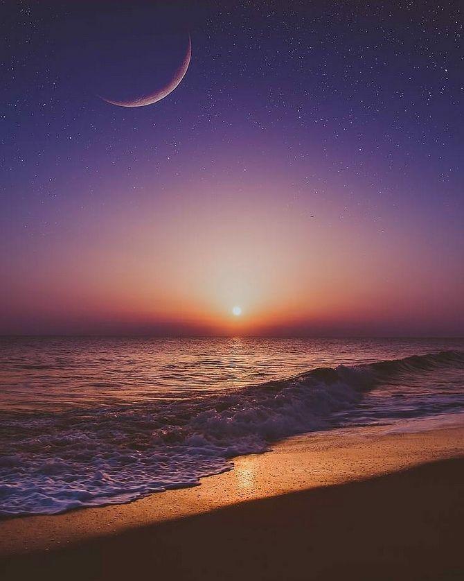 море луна