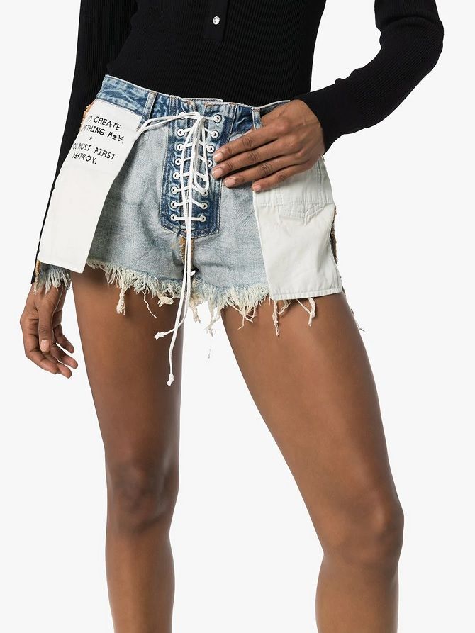 Denim shorts in 2020-2021: look stylish and trendy 32