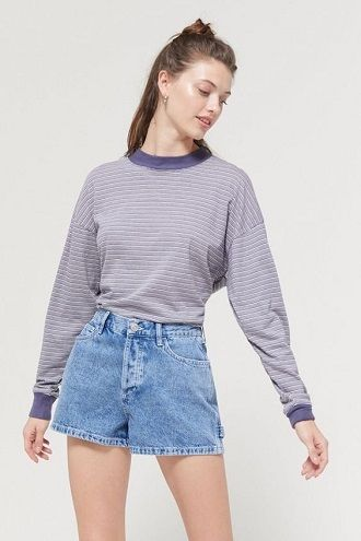 Denim shorts in 2020-2021: look stylish and trendy 62