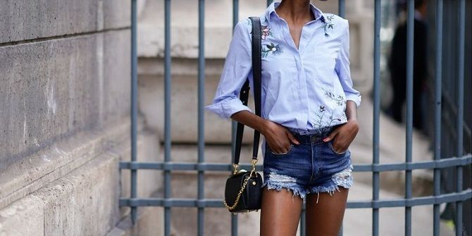 Denim shorts in 2020-2021: look stylish and trendy 52