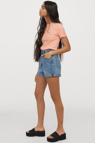 Denim shorts in 2020-2021: look stylish and trendy 76