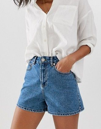Denim shorts in 2020-2021: look stylish and trendy 7