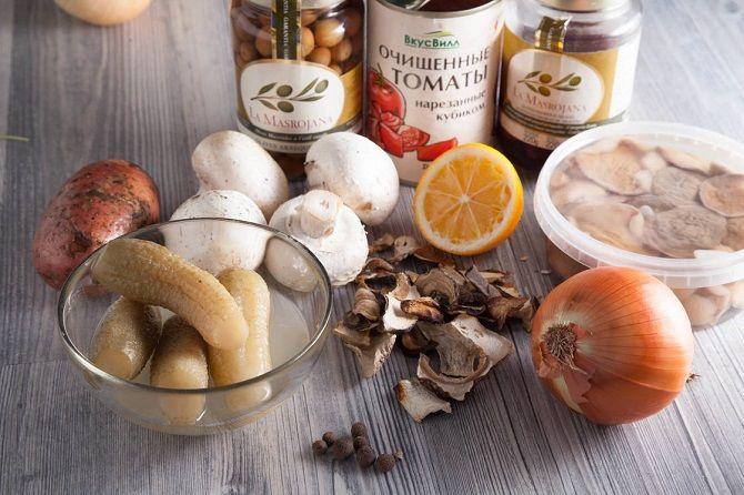 Солянка грибна рецепт