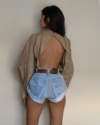 Denim shorts in 2020-2021: look stylish and trendy 49