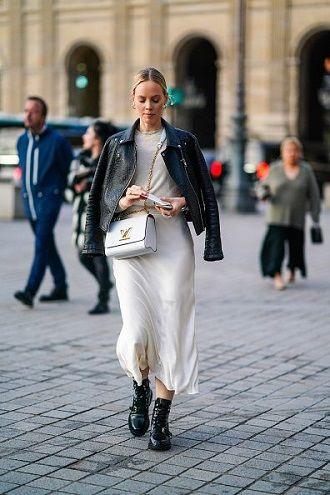 белая юбка и косуха