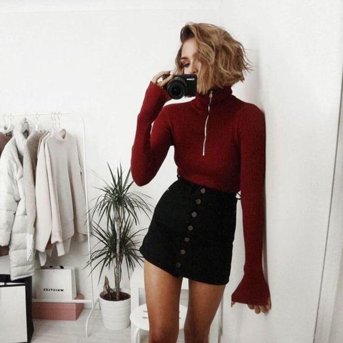 С чем носить короткую юбку: модные образы 2021-2022 15