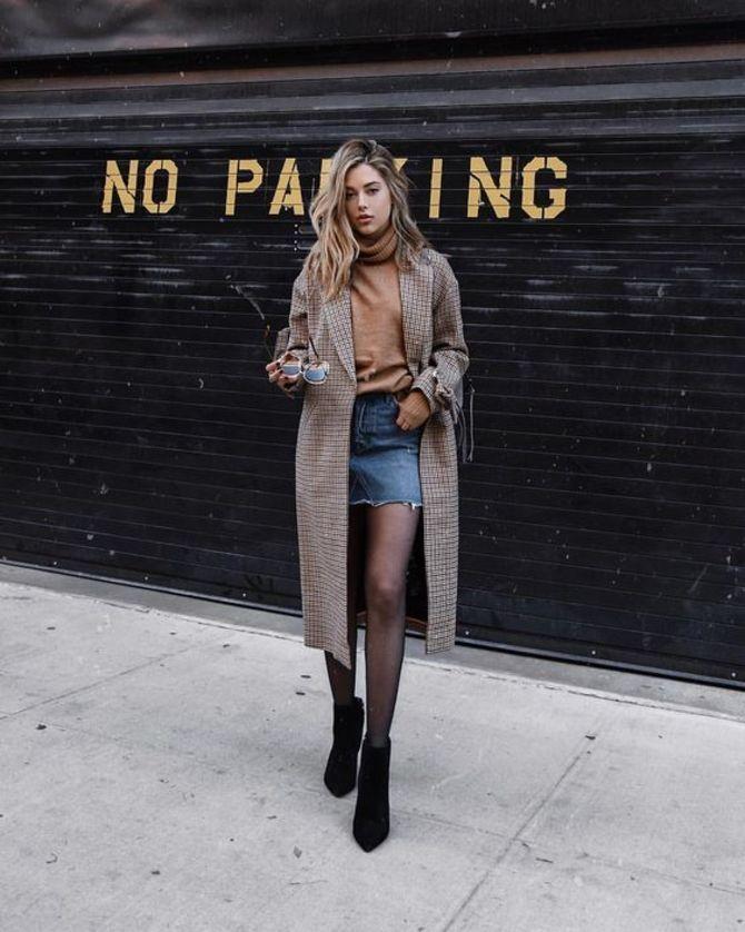 С чем носить короткую юбку: модные образы 2021-2022 18