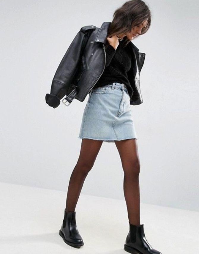С чем носить короткую юбку: модные образы 2021-2022 19