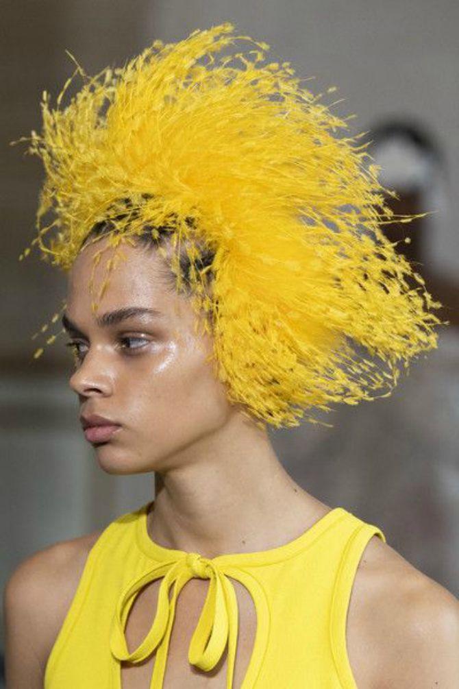 перья на голове