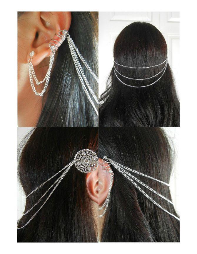 цепи в волосах