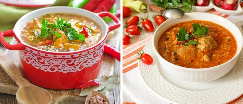 Гордость грузинской кухни: питательный суп харчо из разных видов мяса