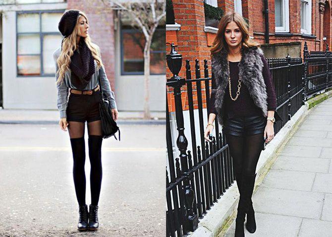 Черные мини-шорты