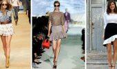 Модные мини-юбки с оборками 2021-2022