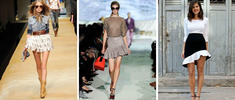 Модные мини-юбки с оборками 2020-2021