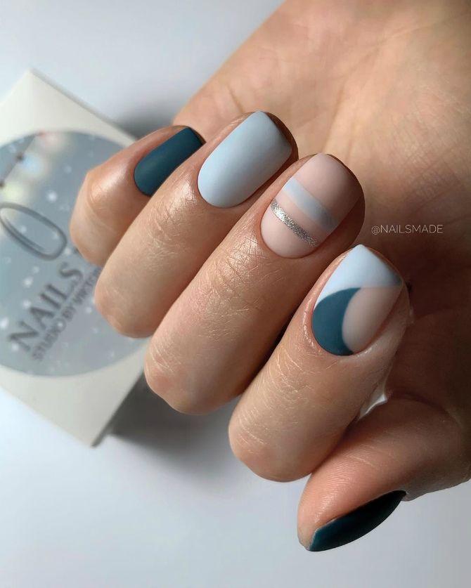 маникюр лаком на короткие ногти