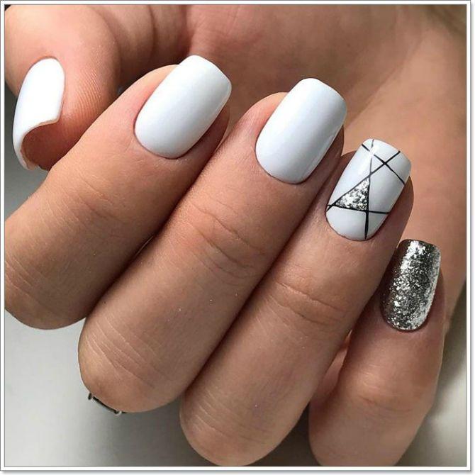 маникюр гель лак на короткие ногти