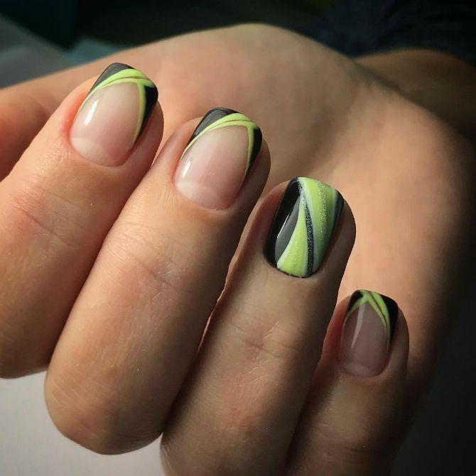 фото красивого маникюра на короткие квадратные ногти