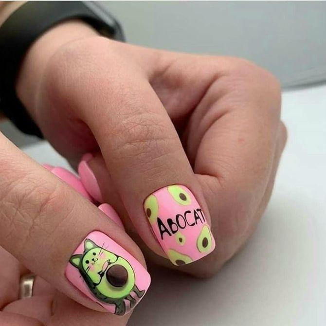 цвет маникюра на короткие ногти