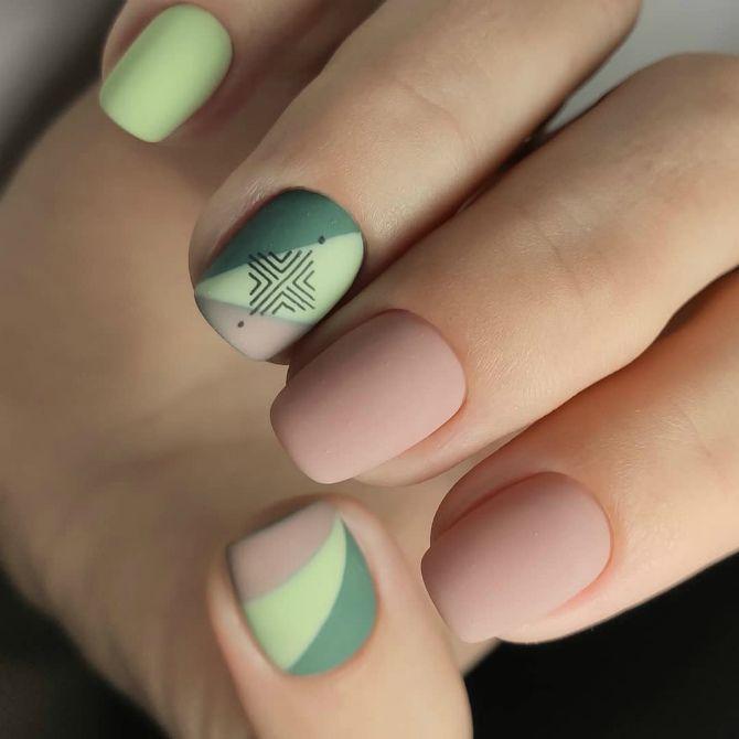 фото маникюра на короткие ногти гель