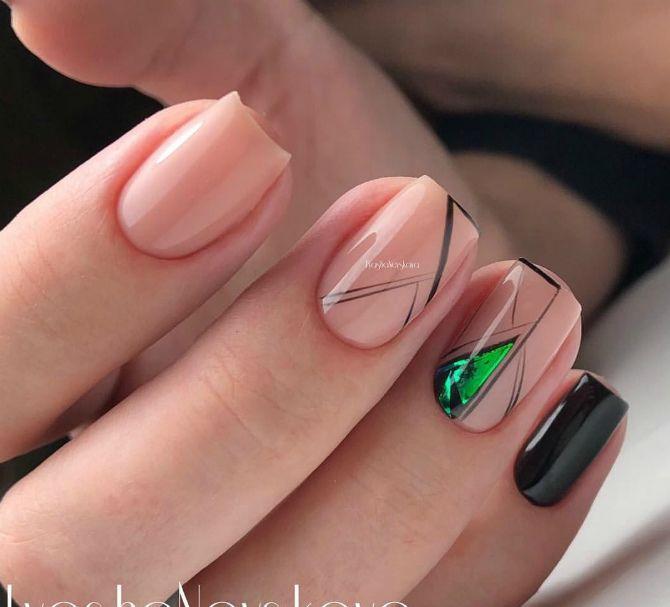 ногти нюдовые